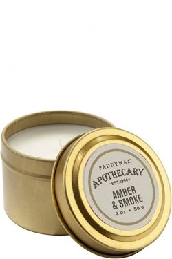 Paddywax Apothecary Amber & Smoke Travel Candle